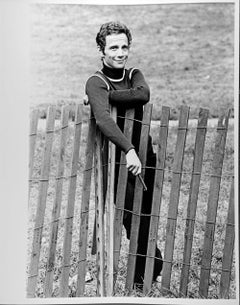 Broadway star Joel Grey photographed in Central Park, signed by Jack Mitchell