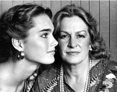 Brooke Shields & her mother Teri, signed by Jack Mitchell