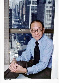 Chinese-American Architect I. M. Pei (Ieoh Ming Pei) in his Manhattan Office