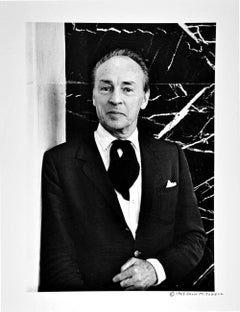 Choreographer & Ballet Master George Balanchine, signed by Jack Mitchell
