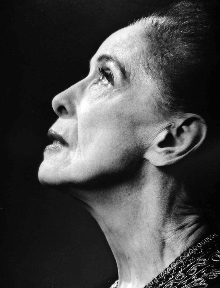 Jack Mitchell Black and White Photograph - Choreographer, Dance Company Founder Martha Graham, Signed