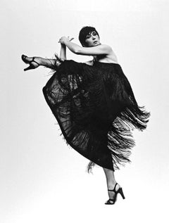 Choreographer/Dancer Twyla Tharp captured in her classic 'Vida Blue' pose
