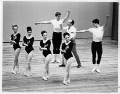Choreographer George Balanchine Rehearsing the New York City Ballet, signed