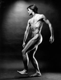 Choreographer & Martha Graham dancer Tim Wengerd, nude, signed by Jack Mitchell