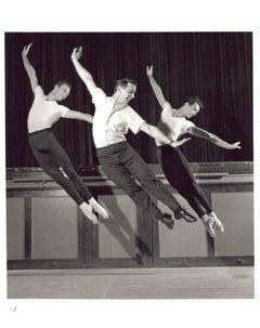 Choreographer Robert Joffrey, Nels Jorgensen & Paul Sutherland dancing