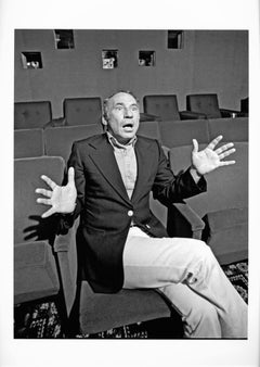 Comedian, Actor & Director Mel Brooks in a NYC screening room