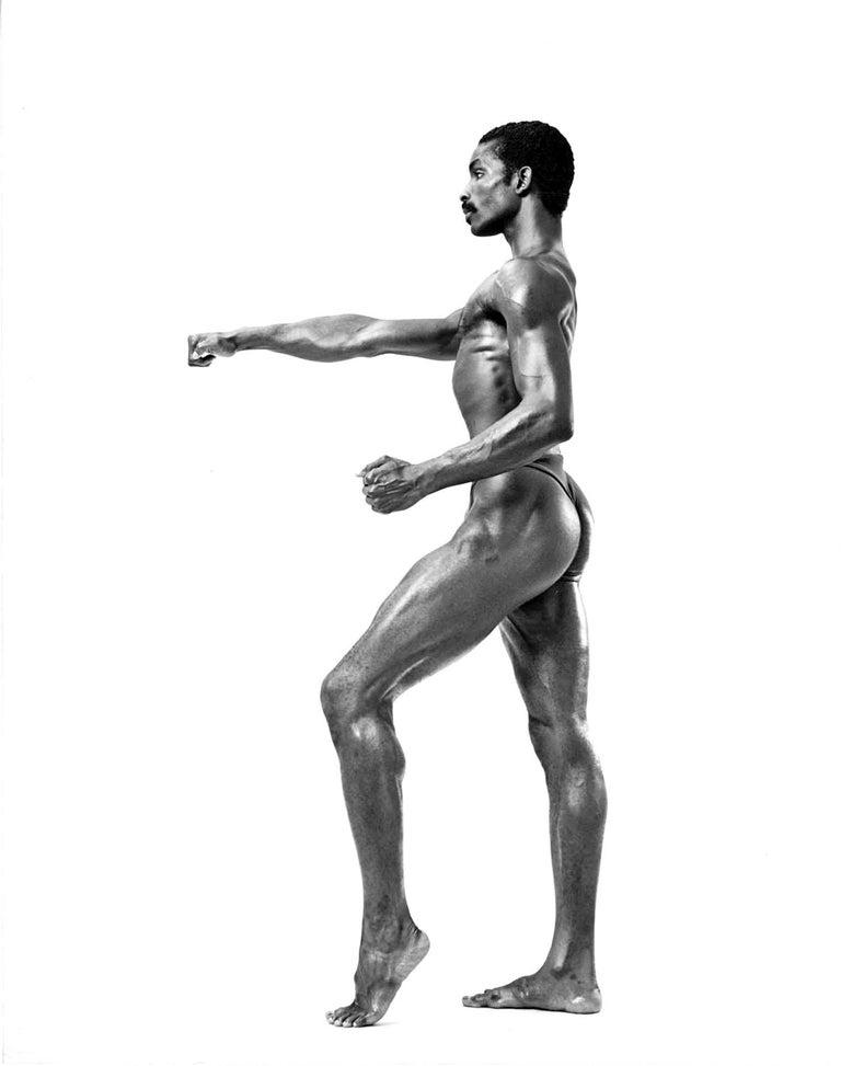 Jack Mitchell Black and White Photograph - Dance Theatre of Harlem dancer Roman Brooks