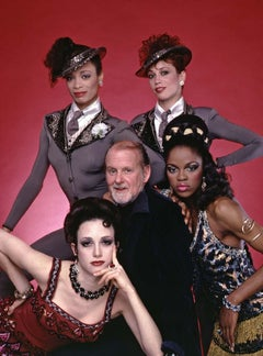 Dancer, Choreographer & Director Bob Fosse with his 'Big Deal' Broadway Cast