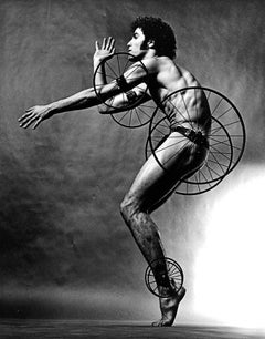 Dancer Choreographer Louis Falco in 'Timewright' costume by Robert Indiana
