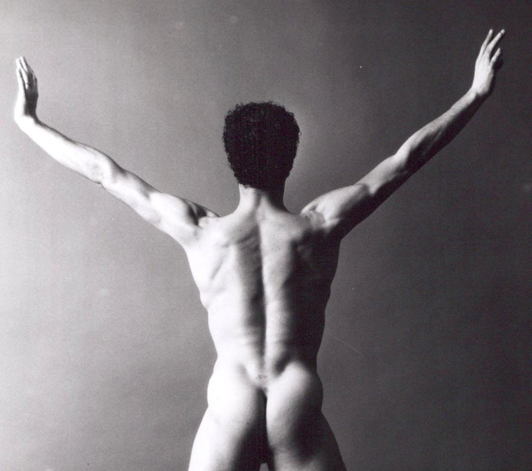 Dancer & Choreographer Louis Falco nude figure study - Photograph by Jack Mitchell