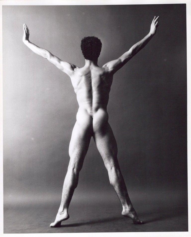 Jack Mitchell Black and White Photograph - Dancer & Choreographer Louis Falco nude figure study