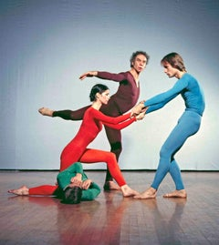 Dancer/Choreographer Merce Cunningham & dancers performing at Westbeth