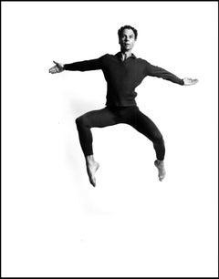 Dancer & Choreographer Merce Cunningham Leaping