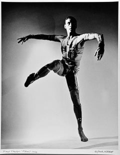 Dancer/Choreographer Paul Taylor performing 'Fibers', signed by Jack Mitchell