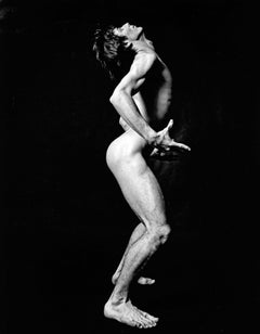 Dancer Daryl Gray nude, signed by Jack Mitchell