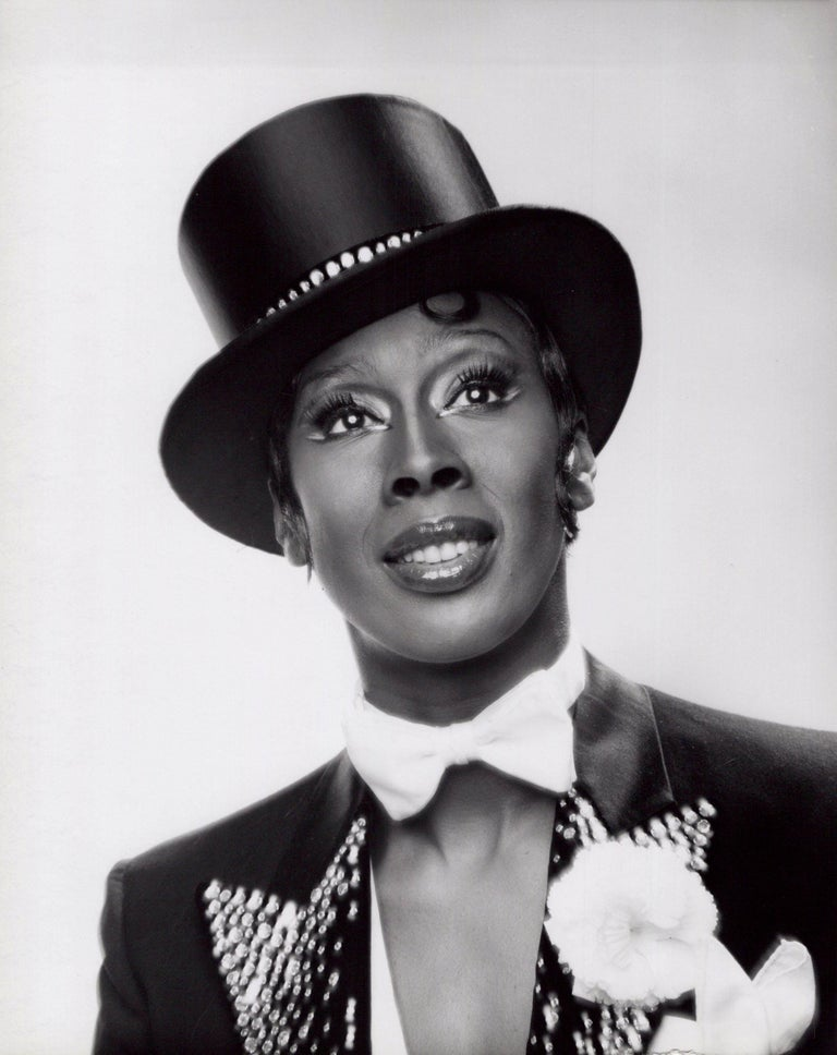Jack Mitchell Black and White Photograph - Dancer Judith Jamison in costume for the Broadway musical 'Sophisticated Ladies'