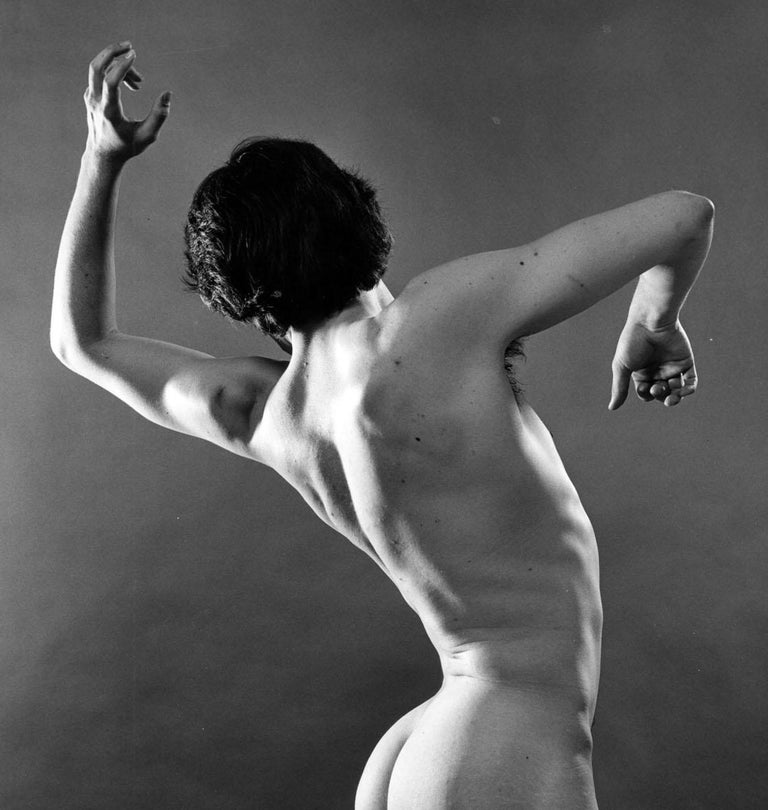 Dancer Kirk Peterson, nude, signed by Jack Mitchell For Sale 1