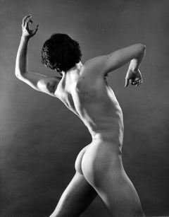 Dancer Kirk Peterson, nude, signed by Jack Mitchell