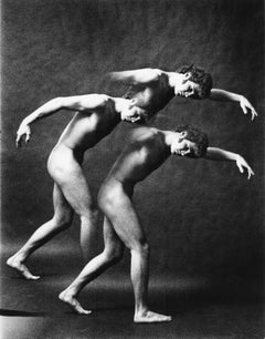 Dancer Leland Schwantes multiple exposure nude for After Dark  magazine