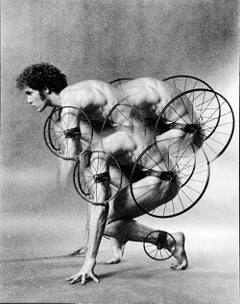 Dancer Louis Falco in a costume by artist Robert Indiana for 'Timewright'