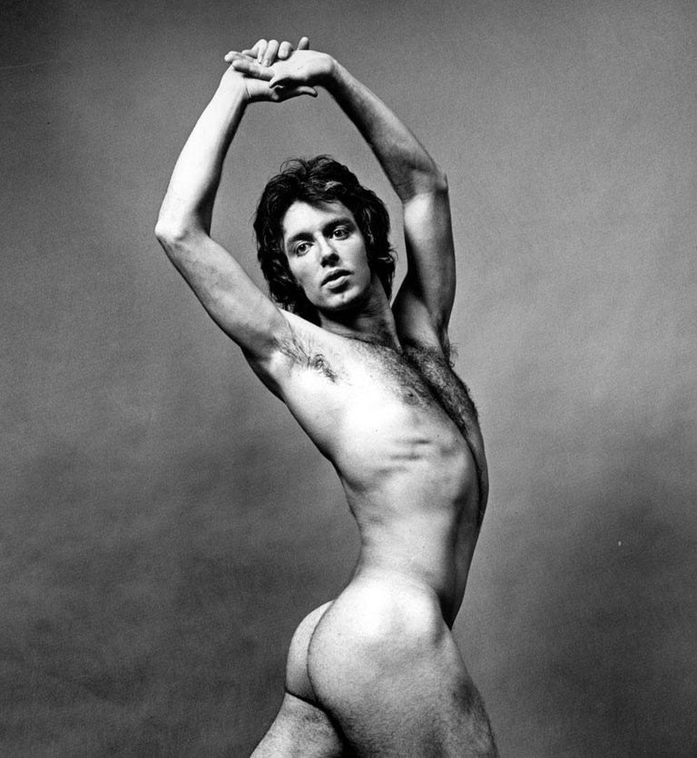 Dancer Manny Rowe, nude, signed by Jack Mitchell For Sale 1