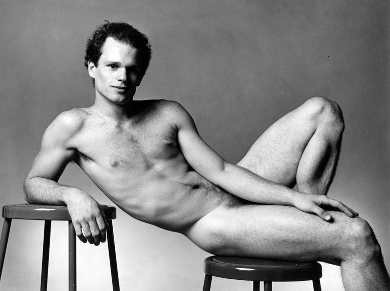 Jack Mitchell Black and White Photograph - Dancer  Paul McCrane, nude, signed by Mitchell