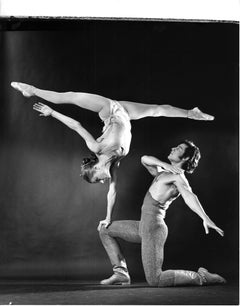 Dancers Luis Villanueve & Zinada Yeviko performing, signed by Jack Mitchell