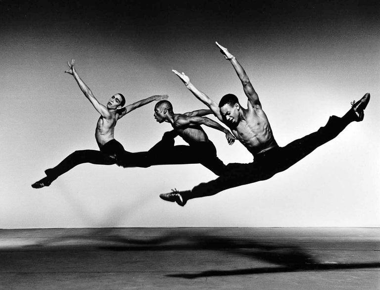 Jack Mitchell Black and White Photograph - Dwight Rhoden, Desmond Richardson, Aubrey Lynch II in Alvin Ailey 'Revelations'