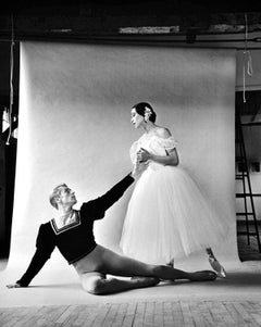 """Erik Bruhn, Maria Tallchief in """"Giselle"""" at Jacob's Pillow signed by Mitchell"""