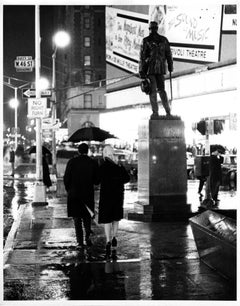 Father Duffy Square on Christmas Night 1965, signed by Jack Mitchell