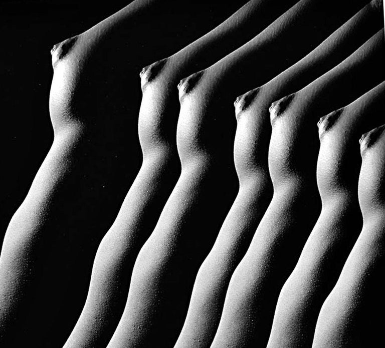 Female Nude from Numbered Nudes Series multiple exposure signed exhibition print - Photograph by Jack Mitchell