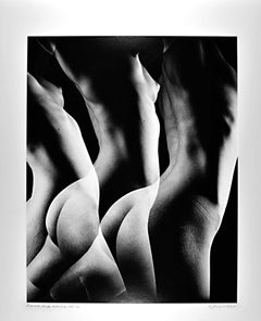 Female Nude from Numbered Nudes Series multiple exposure signed exhibition print