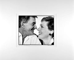 Film director Blake Edwards with his wife Julie Andrews, signed exhibition print