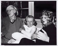 Film noir actress Veronica Lake at a party with Andy Warhol and Candy Darling