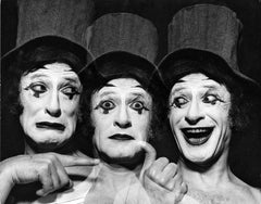French Mime Marcel Marceau, multiple exposure