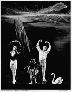 George Balanchine rehearses Edward Villella in Swan Lake signed by Jack Mitchell