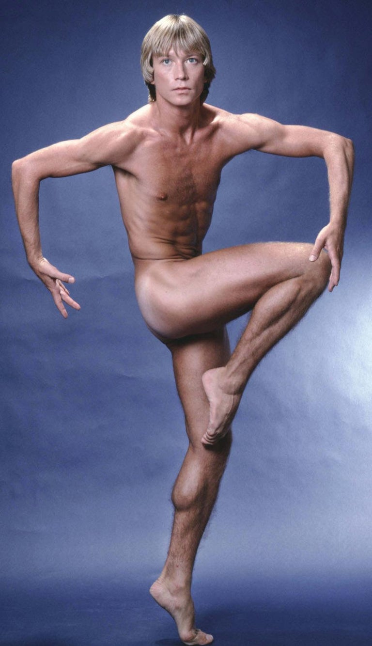 Harkness Ballet Dancer Dale Talley, nude study for After Dark - Photograph by Jack Mitchell