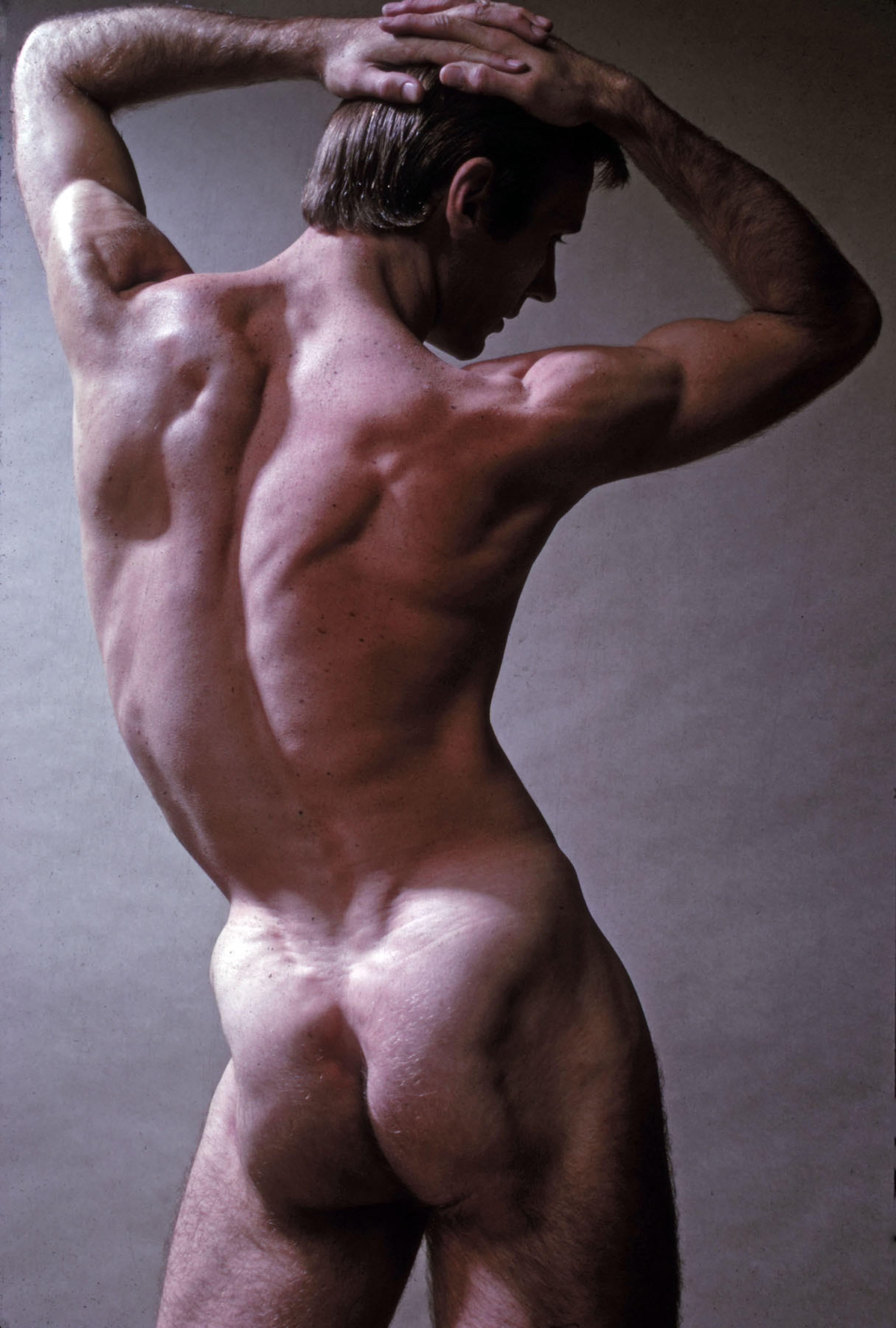 Harkness Ballet dancer Roderick Drew, nude, signed by Jack Mitchell