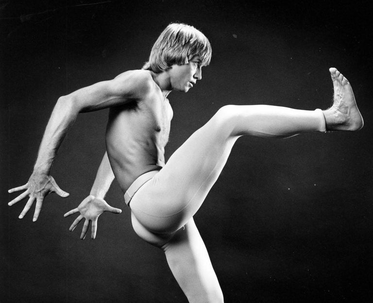 Harkness Ballet principal dancer Dale Talley, signed by Jack Mitchell For Sale 1