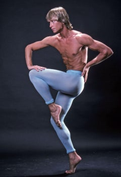Harkness Ballet principal dancer Dale Talley, signed by Jack Mitchell