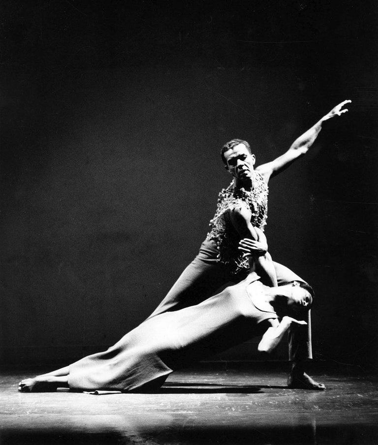 Jack Mitchell Black and White Photograph - James Truitte & Minnie Marshall performing Alvin Ailey's 'Fix Me Jesus'
