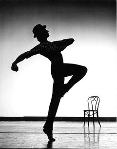 Joffrey Ballet dancer Bruce Falco silhouette, Signed by Jack Mitchell