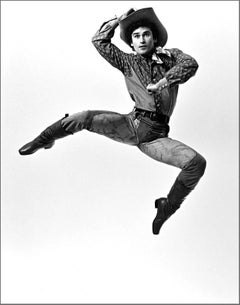Joffrey Ballet dancer Greg Huffman performing 'Rodeo', signed by Jack Mitchell