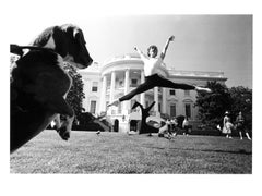 Joffrey Ballet (watched by dog) rehearsing at the LBJ White House Arts Festival