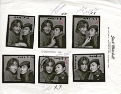 John Lennon and Yoko Ono photographed November 2, 1980. 120 Film Proofs + Notes