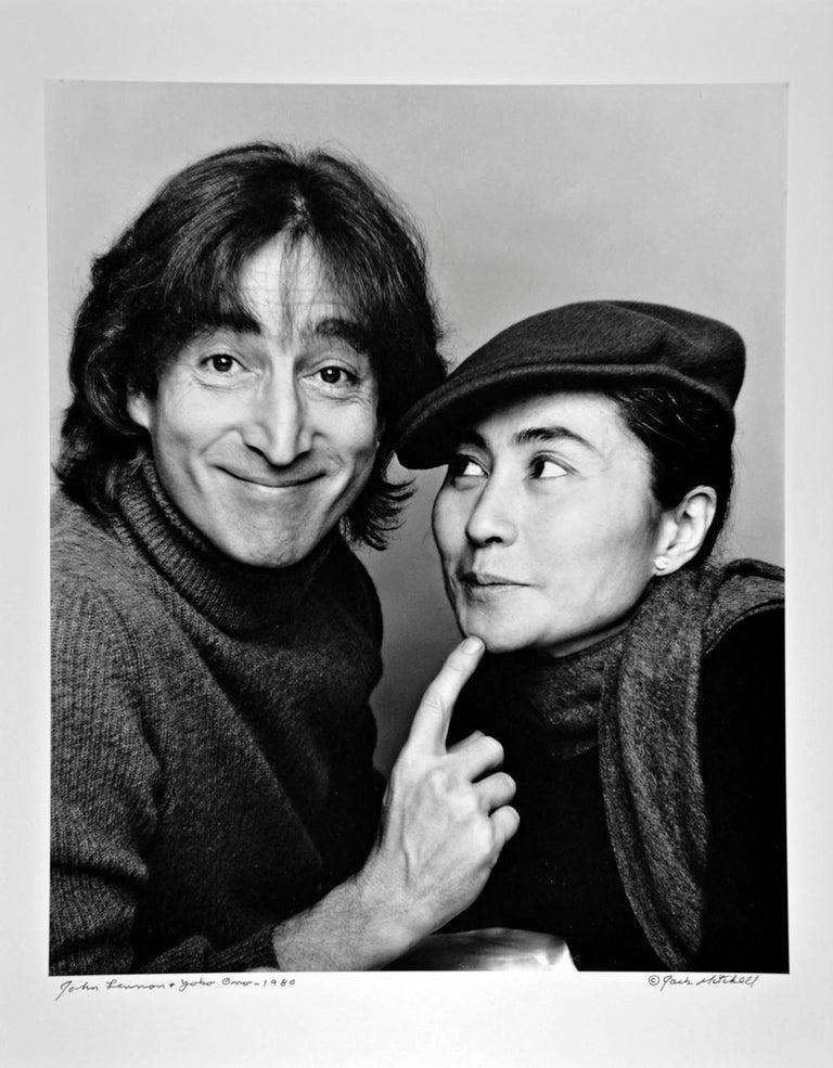 Jack Mitchell Portrait Photograph - John Lennon and Yoko Ono, Photographed November 2, 1980, Signed