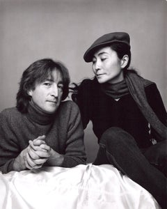 John Lennon and Yoko Ono photographed on November 2, 1980 his last photo session