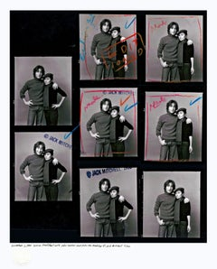 John Lennon & Yoko Ono 1980 marked up Jack Mitchell Proof Sheet Limited Edition