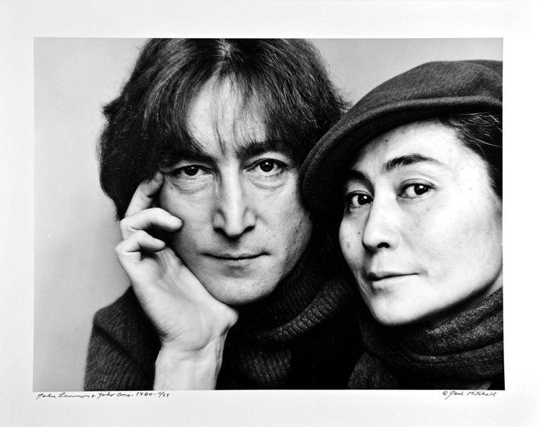 Jack Mitchell Portrait Photograph - John Lennon & Yoko Ono