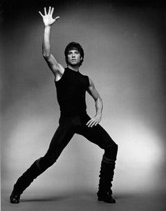 John Travolta as Tony Manero in 'Stayin' Alive', signed by Jack Mitchell